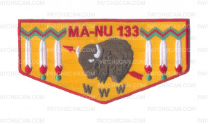 Patch Scan of MA-NU 133 Vintage Flap