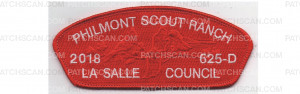 Patch Scan of Philmont CSP Red Border (PO 87749)