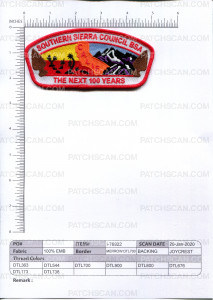 Patch Scan of Southern Sierra Council CSP The Next 100 Years