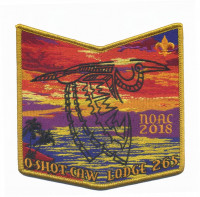 O-Shot-Caw Lodge 265 NOAC 2018 pocket patch South Florida Council #84