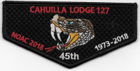 Cahuilla Lodge 127 NOAC 2018 1973-2018 - pocket flap California Inland Empire Council #45