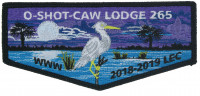O-Shot-Caw Lodge 265 2018-2019 LEC flap South Florida Council #84