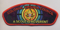 K123730 - COLONIAL VIRGINIA COUNCIL - A SCOUT IS REVERENT 2015 FOS CSP Colonial Virginia Council #595