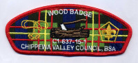 AR0194B - CVC Wood Badge Red Chippewa Valley Council #637