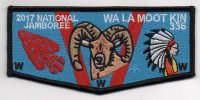 2017 JAMBOREE WA LA MOOT KIN LODGE FLAP Blue Mountain Council #604