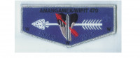 N.C.A.C. NOAC flap Silver Border National Capital Area Council #82