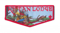 K124006 - Twin Rivers Council - Kittan Lodge NOAC Flap (Red) Twin Rivers Council #364