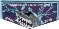 Amangamek-Wipit 470 NOAC 2018 Electric Shark OA Flap set National Capital Area Council #82