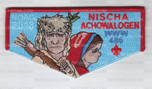 Patch Scan of Nischa Achowalogen NOAC 2018 Blue Pocket Flap