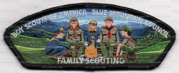 FAMILY SCOUTING BMC CSP BLACK on PatchScan com