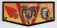 WA LA MOOT KIN REGULAR FLAP BLACK Blue Mountain Council #604