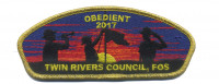 obedient 2017- trc csp fos gold metallic Twin Rivers Council #364