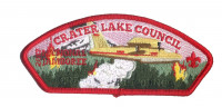Crater Lake Council 2017 National Jamboree JSP Red Border KW2155 Crater Lake Council #491