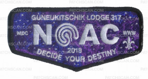 Patch Scan of Guneukitschik Lodge 3017 NOAC Flap - Black Metallic Border