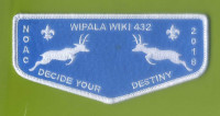 Wiplal Wiki 432 NOAC 2018 blue felt flap Grand Canyon Council #10