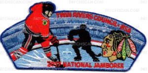 Patch Scan of The Original Six NHL Twin Rivers Council National Jamboree 2017