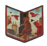 Michigamea Lodge 110 NOAC 2018 pocket patch#4 Pathway to Adventure Council #