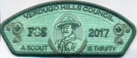 Verdugo Hills FOS 2017 A Scout is thrifty  Verdugo Hills Council #58