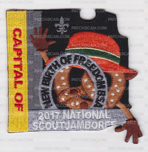 Patch Scan of NBOF National Jamboree 2017 Pretzel