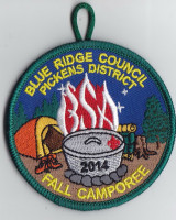 PICKENS DISTRICT FALL CAMPOREE Blue Ridge Council #551
