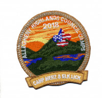 Allegheny Highlands Council Camps (Activity Patch)  Allegheny Highlands Council #382