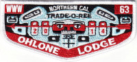 33841 - Ohlone Lodge 63 2014 Trade-O-Ree Lodge Flap Pacific Skyline Council #31