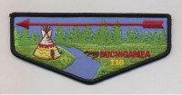 K123804 - CALUMET COUNCIL - 50TH ANNIVERSARY FLAP - OPOSA ACHOMAWI (BLACK BORDER) Calumet Council #152