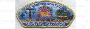 Patch Scan of Conservation Project 2016 Gold Border (PO 86412)