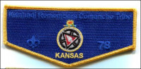 Kwahadi Remembers with Kansas Flag OA Flap  Conquistador Council #413