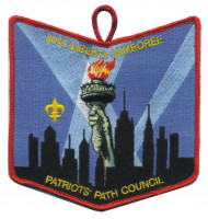 Woapalanne 100 Years of OA pocket patch Patriots' Path Council #358
