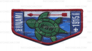 Patch Scan of Unami One Turtle Flap