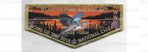 Patch Scan of 2018 National Chief Flap Metallic Border (PO 87548)