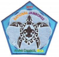Aloha Council- 2017 National Jamboree- Center Turtle (Blue)  Aloha Council #104
