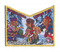 K124313 - Calumet Council - NOAC Patch Michigamea Winter Pocket (Gold Metallic) Calumet Council #152