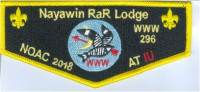 Nayawin Rar Lodge NOAC 2018 at IU Flap Tuscarora Council #424