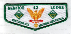 Patch Scan of Baltimore Area Council Nentico 12 Lodge Venturing BSA