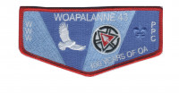 Woapalanne 100 Years of OA flap Patriots' Path Council #358