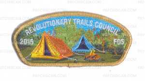 Patch Scan of K123674 - REVOLUTIONARY TRAILS COUNCIL 2015 FOS CSP (GOLD METALLIC)