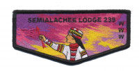 Semialachee Lodge 239 Flap Black Border Suwannee River Area Council #664