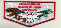 Camp De Soto Flap 2016- red border De Soto Area Council #13