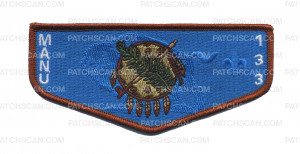 Patch Scan of Ma-NU 133 OK flag flap