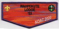 WAHPEKUTE LODGE FLAP 1 Twin Valley Council #284