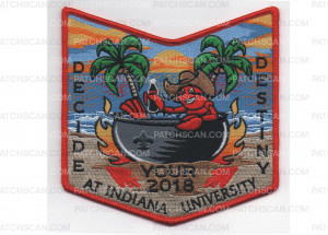 Patch Scan of 2018 NOAC Pocket Patch Red Border (PO 87939)