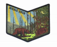 90 NOAC 2018 pocket patch Los Padres Council #53
