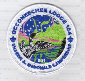 Patch Scan of Occoneechee Lodge Sharon A. McDonald Campership with Loons 2018
