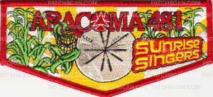 Patch Scan of 33135 - Aracoma Drum Team Lodge Flap 2014