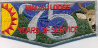 Malibu Lodge 75 Years of Service pocket flap Western Los Angeles County Council #51