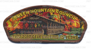 Patch Scan of Green Mountain Council 1972-2017 Celebrating 45 Years CSP