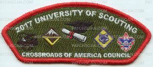 Patch Scan of 2017 UNiversity of Scouting Crossroads of America CSP