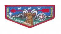 K124327 - BLUE MOUNTAIN COUNCIL - WA-LA-MOOT-KIN 336 FLAP (RED) Blue Mountain Council #604